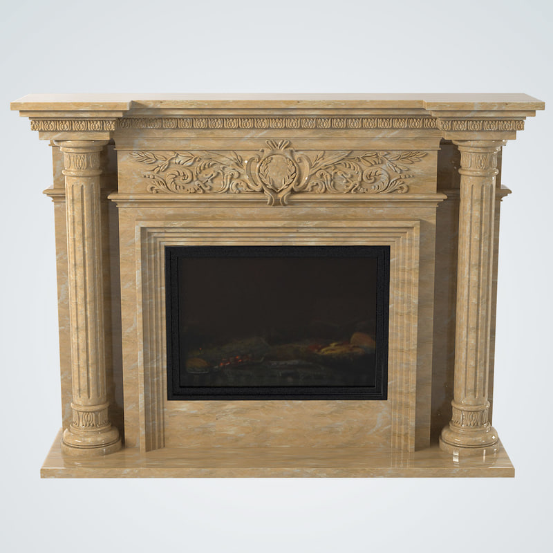 3d model of marble fireplace glivi