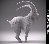 mountain goat stl hollowed 3d 3ds