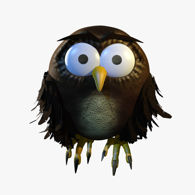 cartoon owl 3d model