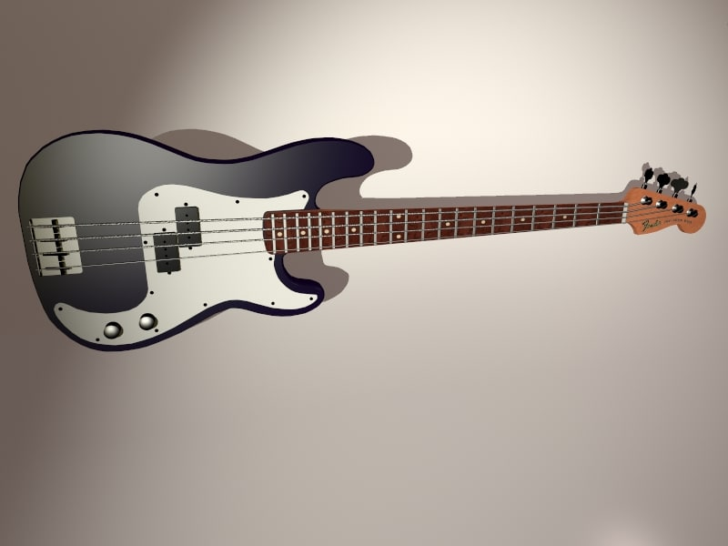 maya fender precision bass guitar