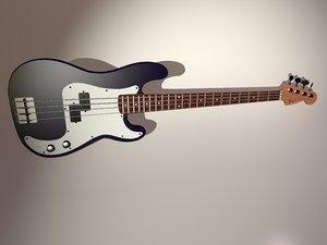 fender precision bass guitar 3d max