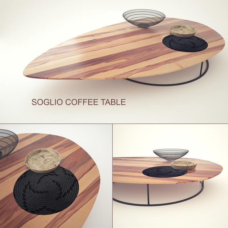 3d soglio coffee table model