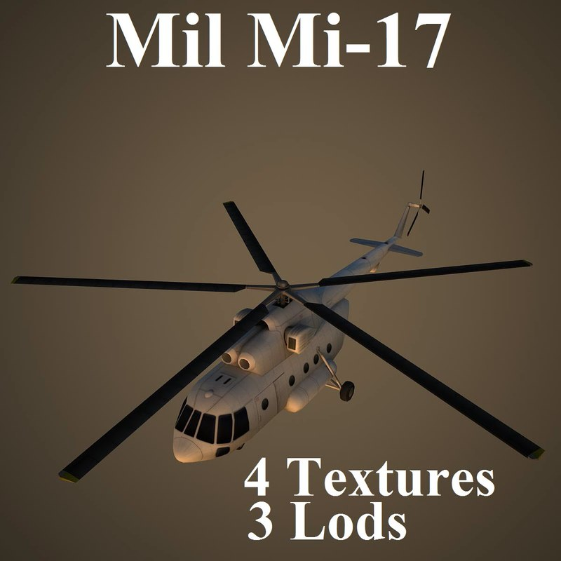 mil low-poly helicopter 3d max
