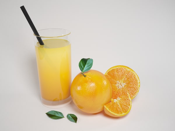 3d model scene oranges