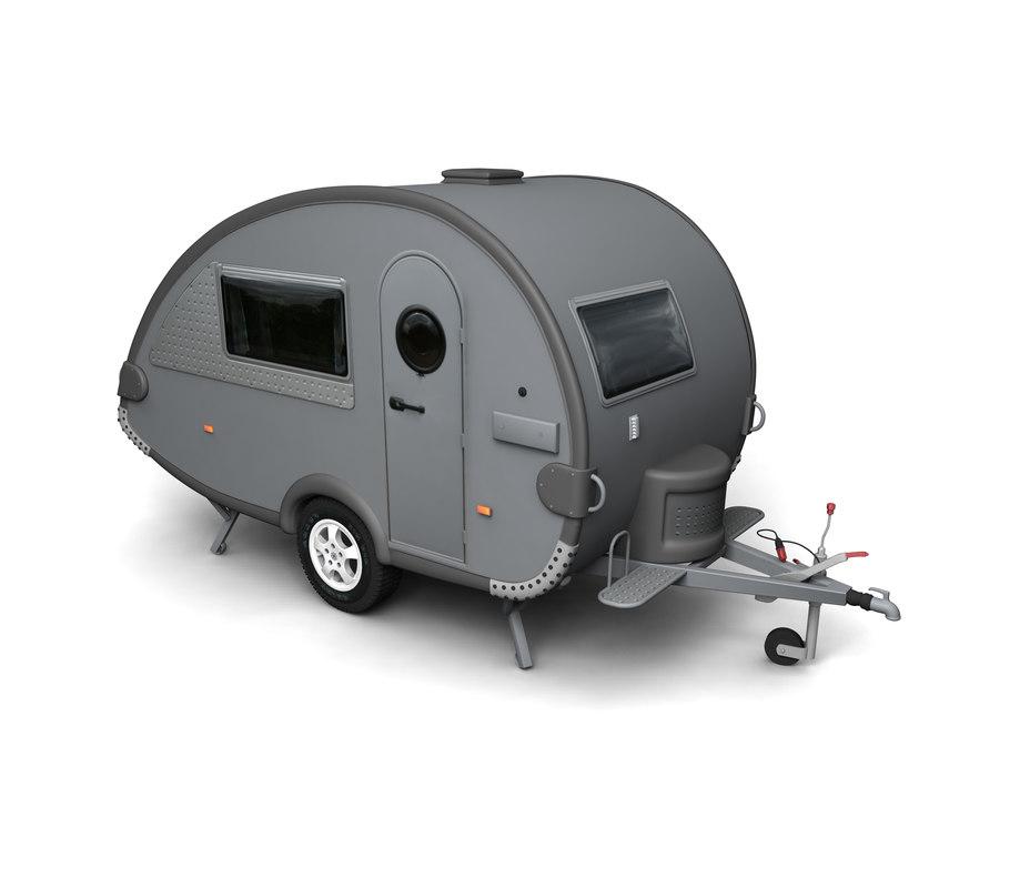 t b caravan 3d model