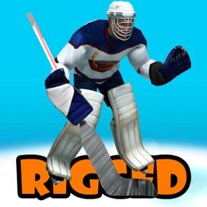 3d hockey goalkeepr