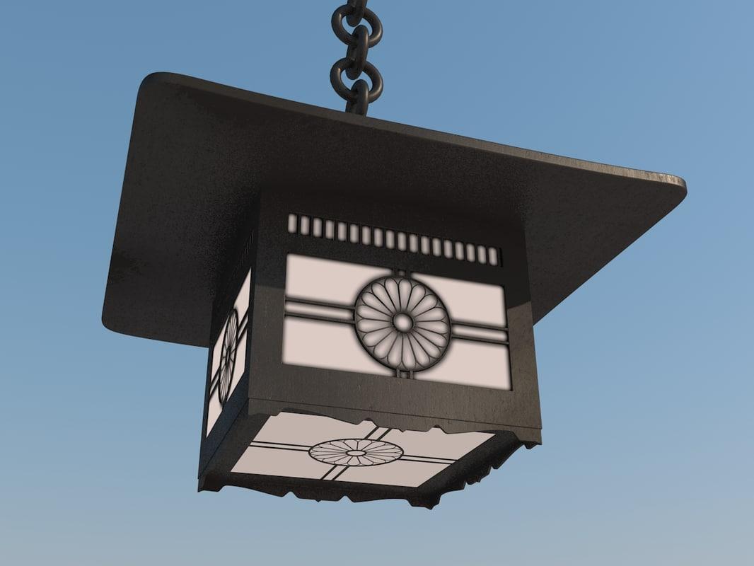 old japanese meiji temple 3d model