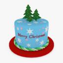 christmas cake 3D models