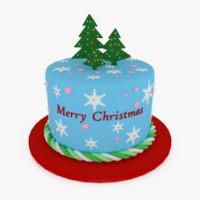 3d christmas cake v1