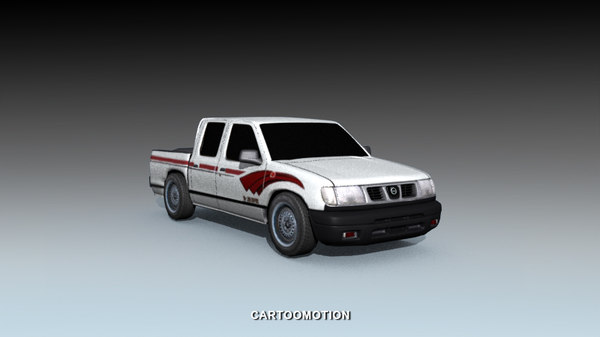 3d pickup car wheels model