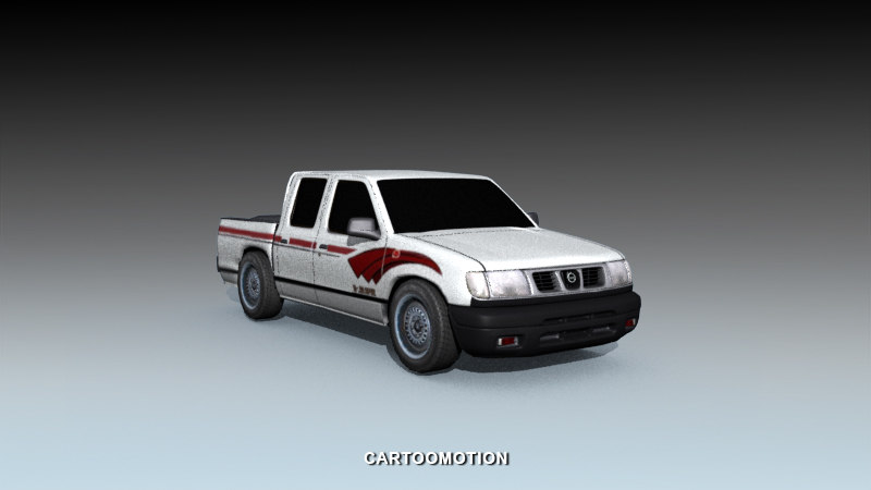 3d pickup car wheels model