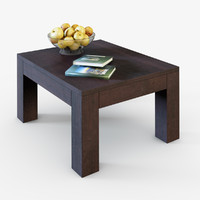Table with apples and books