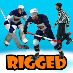 hockey player 3d model