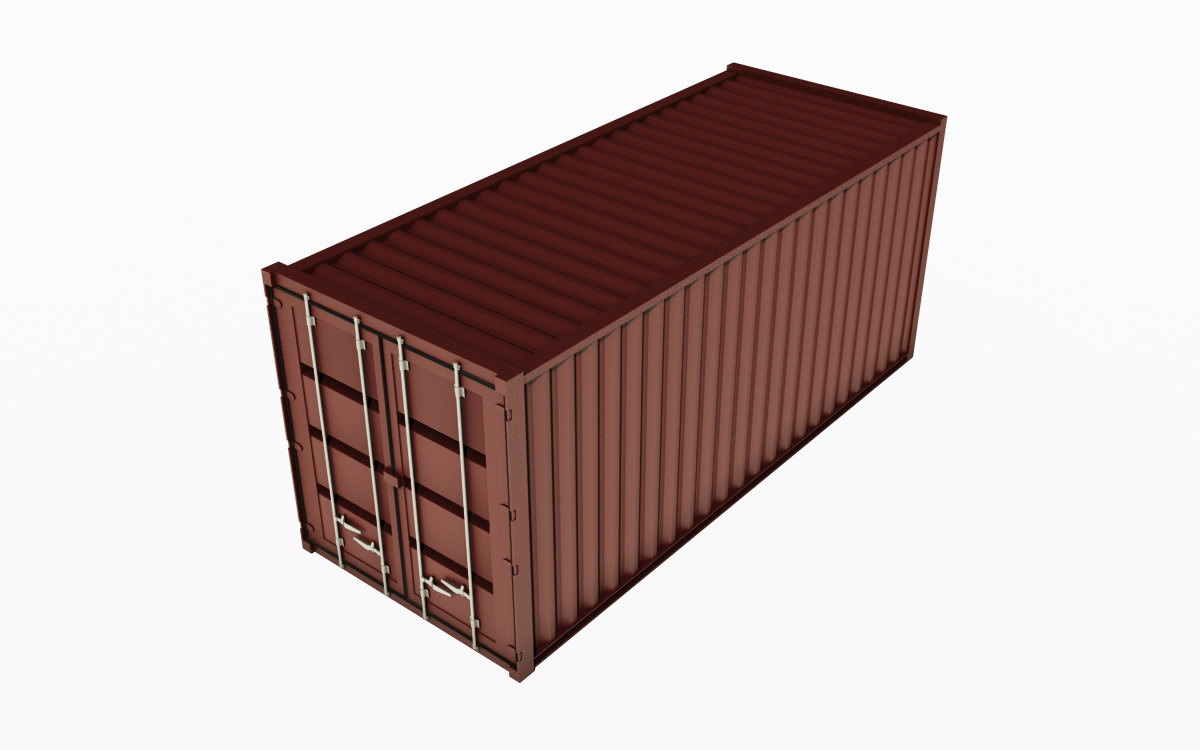 3d container iso model