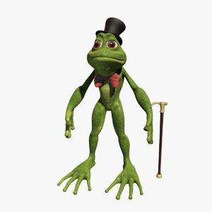 3ds max cartoon frog