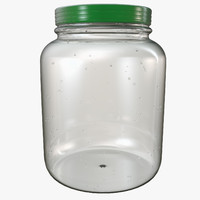 glass jar container 3d c4d