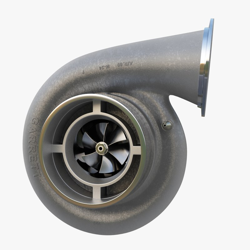 turbocharger compressor wheel obj