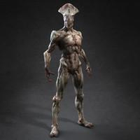 mutant humanoid human 3d max