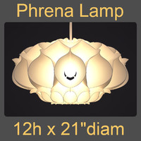 3d model phrena hanging lamp