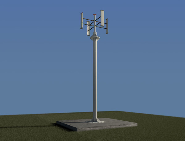 3ds max vertical wind turbine