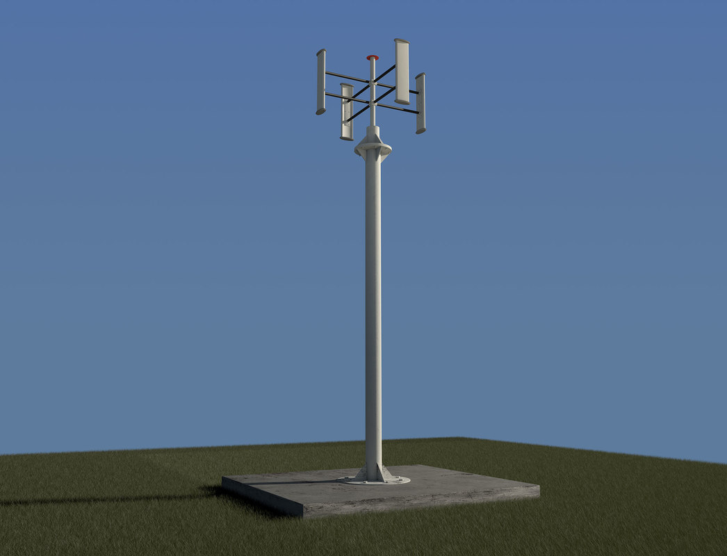 3ds max vertical wind turbine