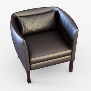 3ds max armchair chair mogensen