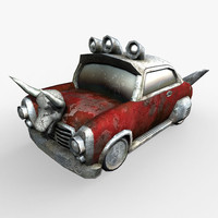 3d car gaming asset model