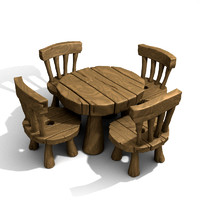 Cartoon table set
