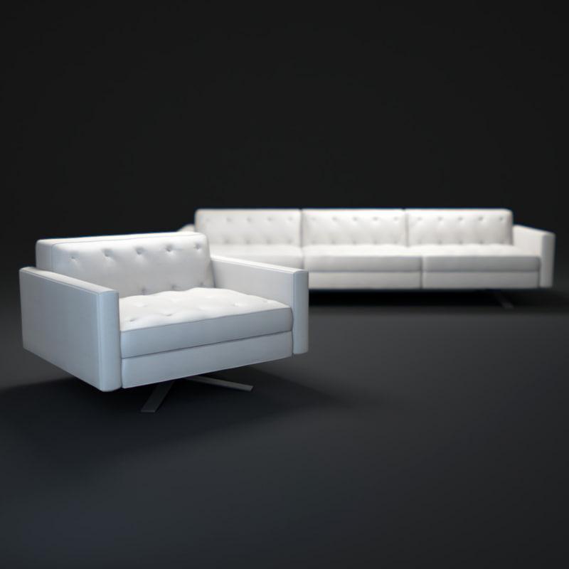 3dsmax kennedee sofa