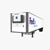 3d semi trailer reefer