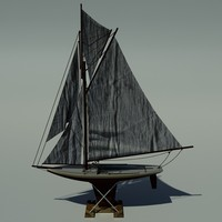 3d sail boat miniature