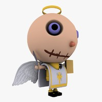 3d angel cartoon character