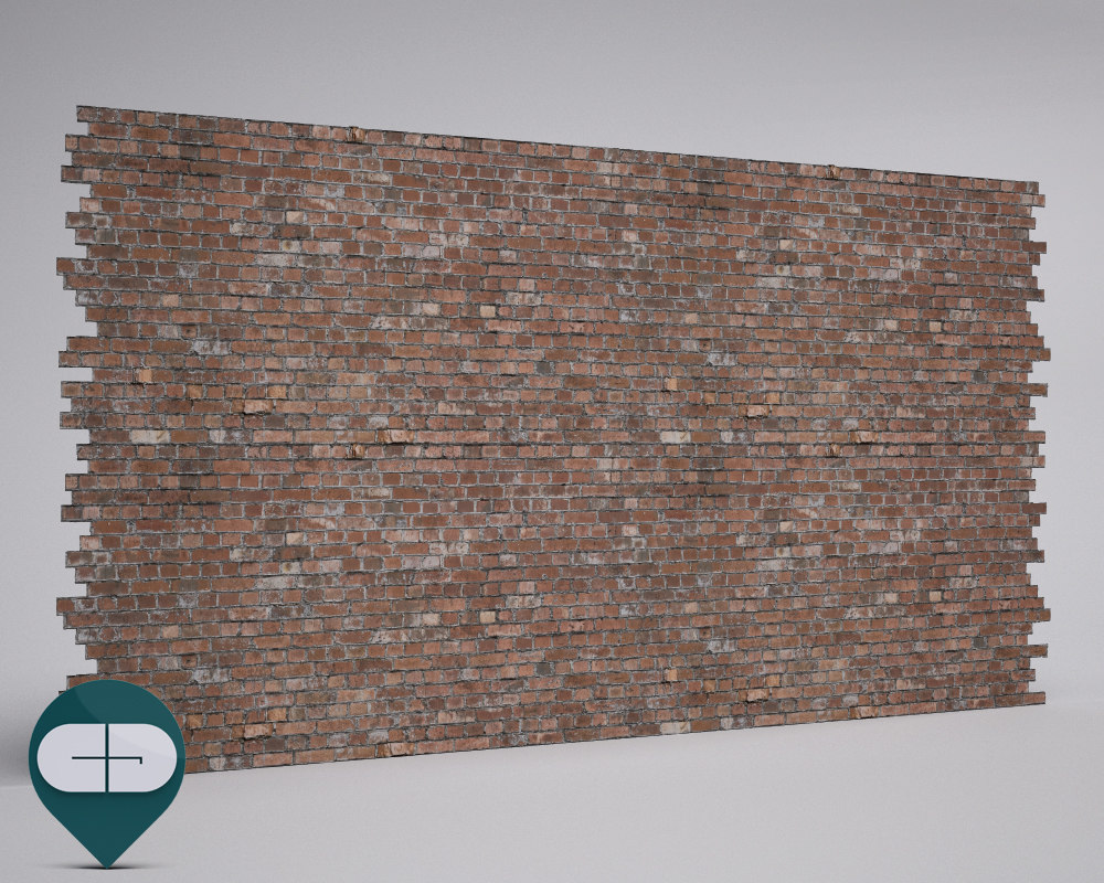 3d model materials wall repeatable