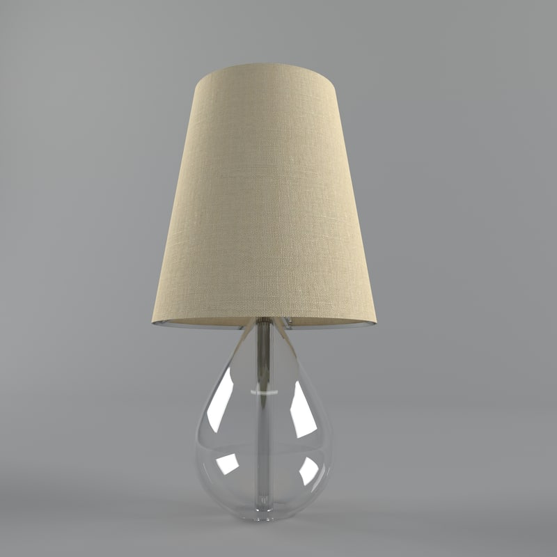 3d decoration lamp model