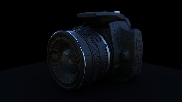 canon camera 3d obj