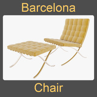 barcelona chair 3d model