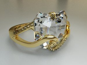 free ring stone 3d model