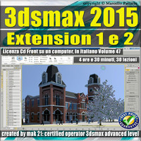 3ds max 2015 Extension 1 - 2 vol. 47 CD front