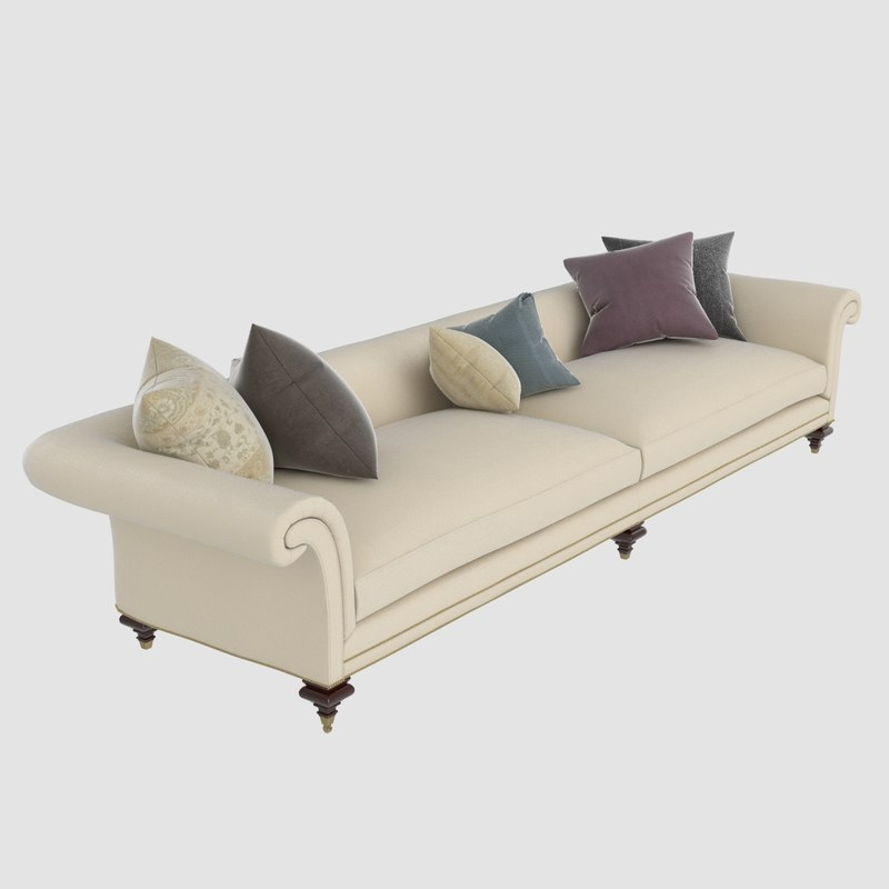 set sofa pillows 3d model