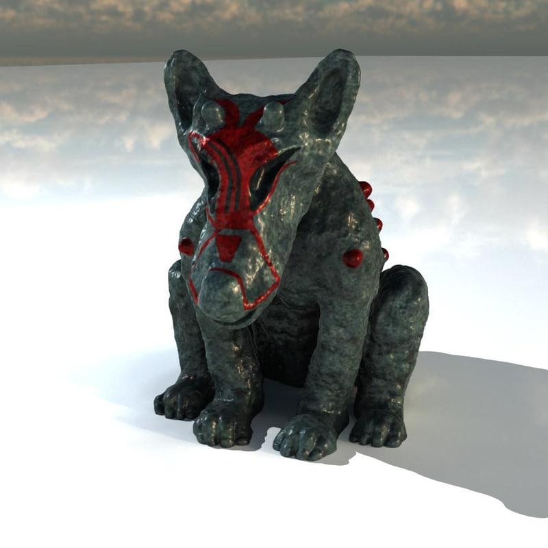 statue demon 3d model
