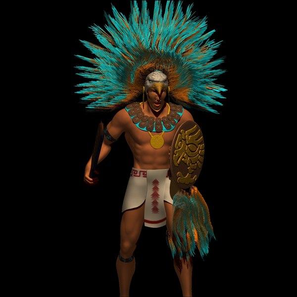 3ds max aztec warrior
