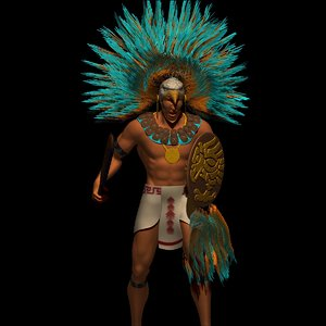 3ds max aztec warrior