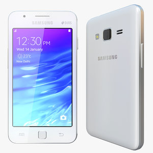 3d model realistic samsung z1 white