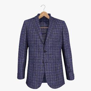 3d blue blazer jacket 2