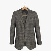 3d grey blazer jacket 2 model