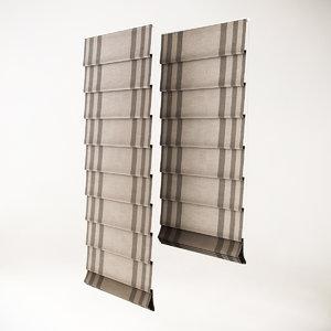 3d roman blinds model