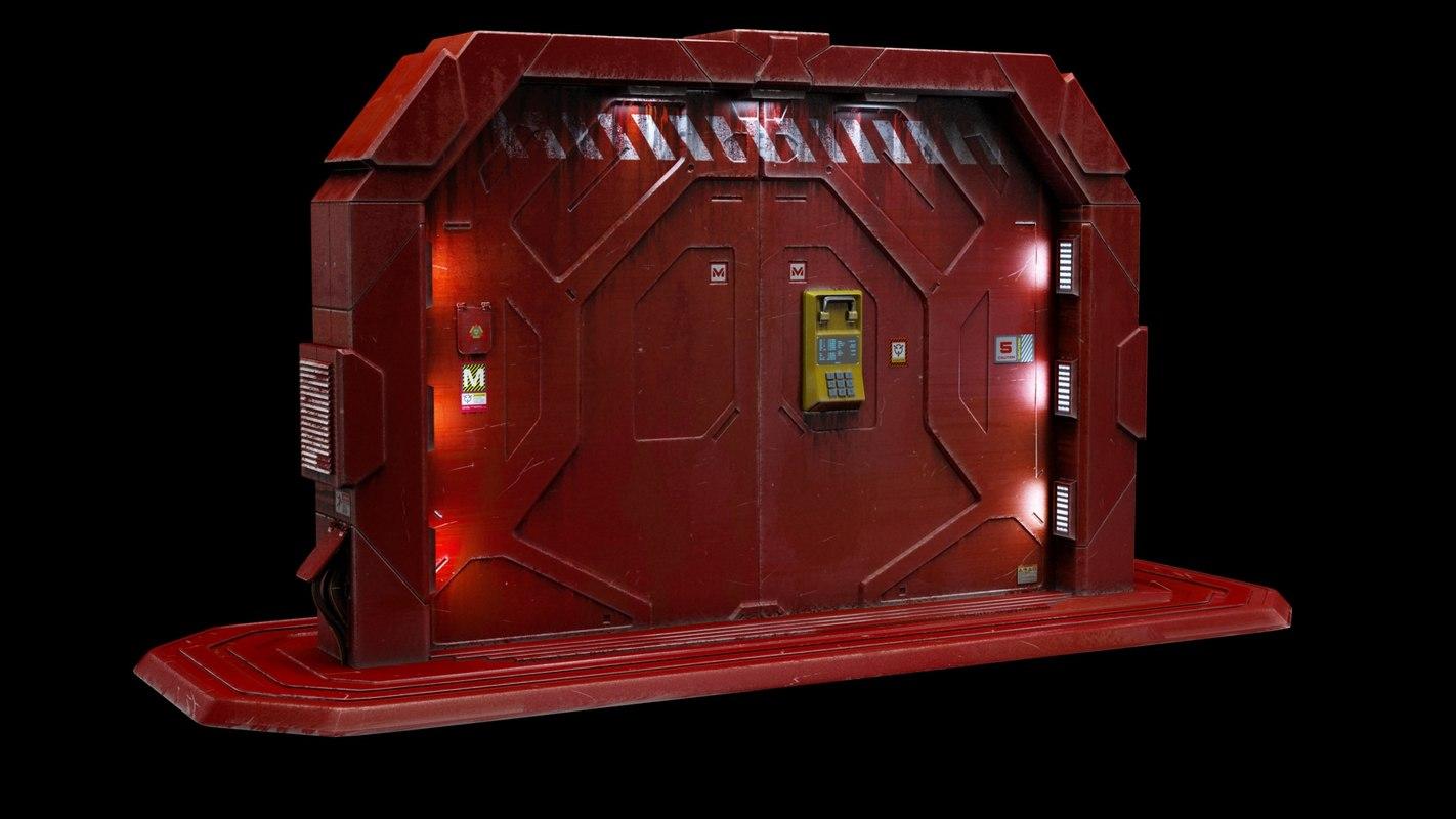 gate door 3d max