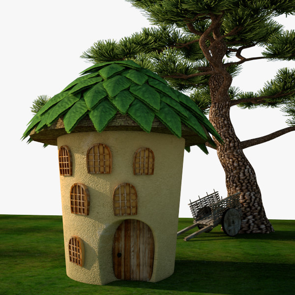 3d model small cute house