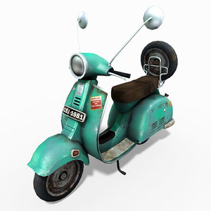 3d vespa scooter model