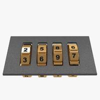 3d code lock